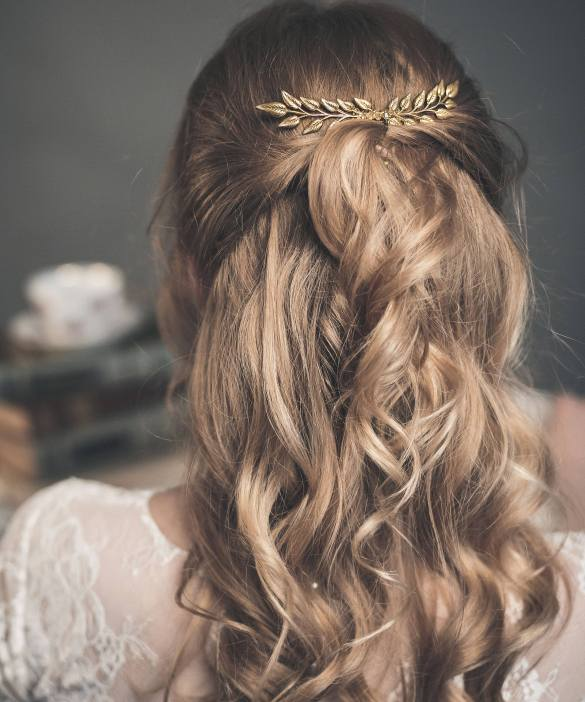 gold leaf hair comb by floral jewellery // http://etsy.me/2idLibx