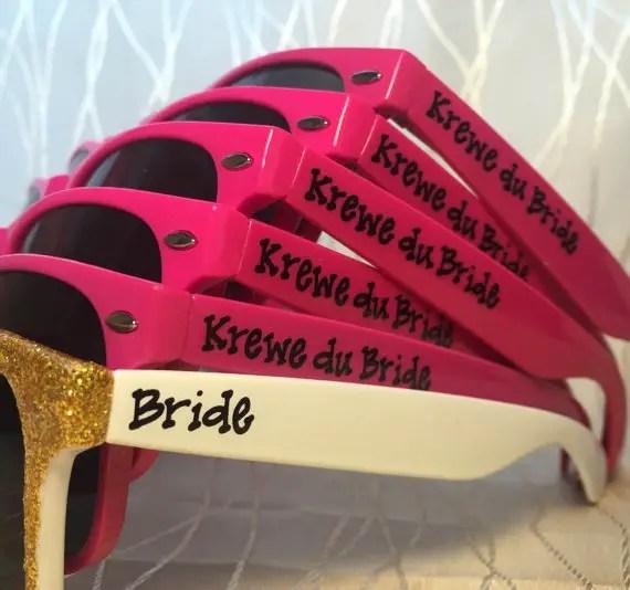 personalized bachelorette sunglasses