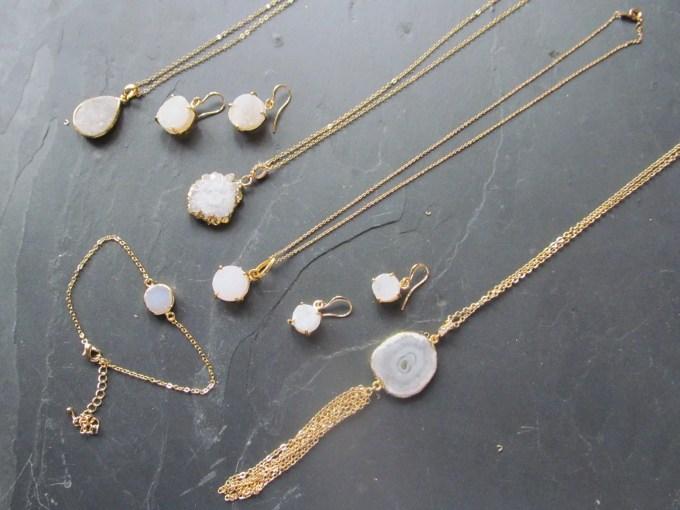 geode tassel necklace