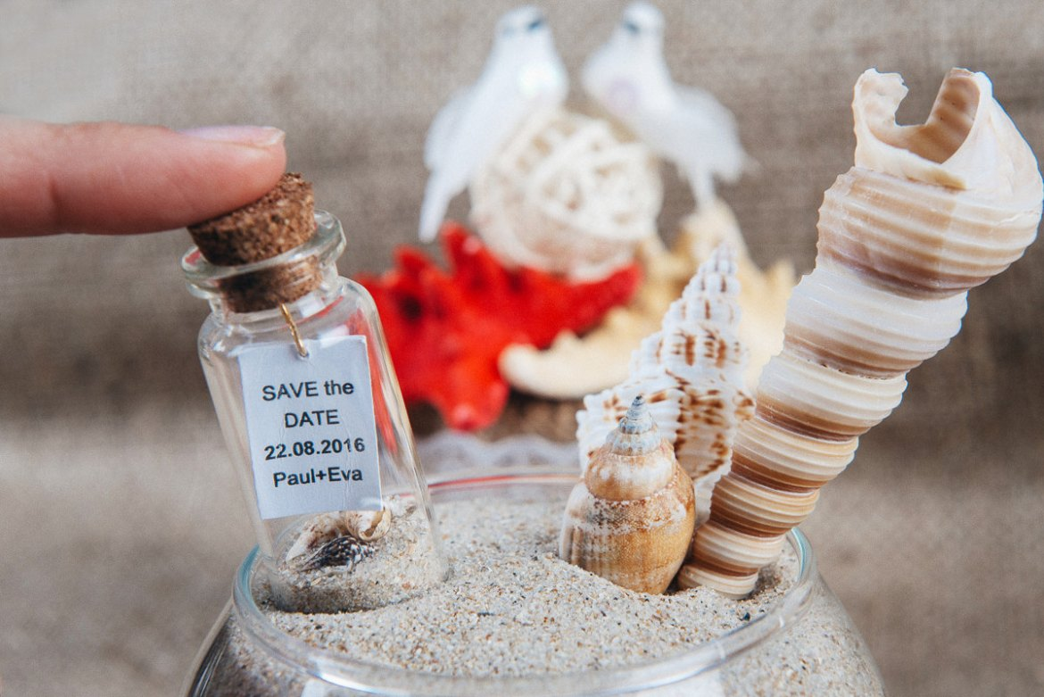 Message In A Bottle Save The Date | Emmaline Bride Wedding Blog