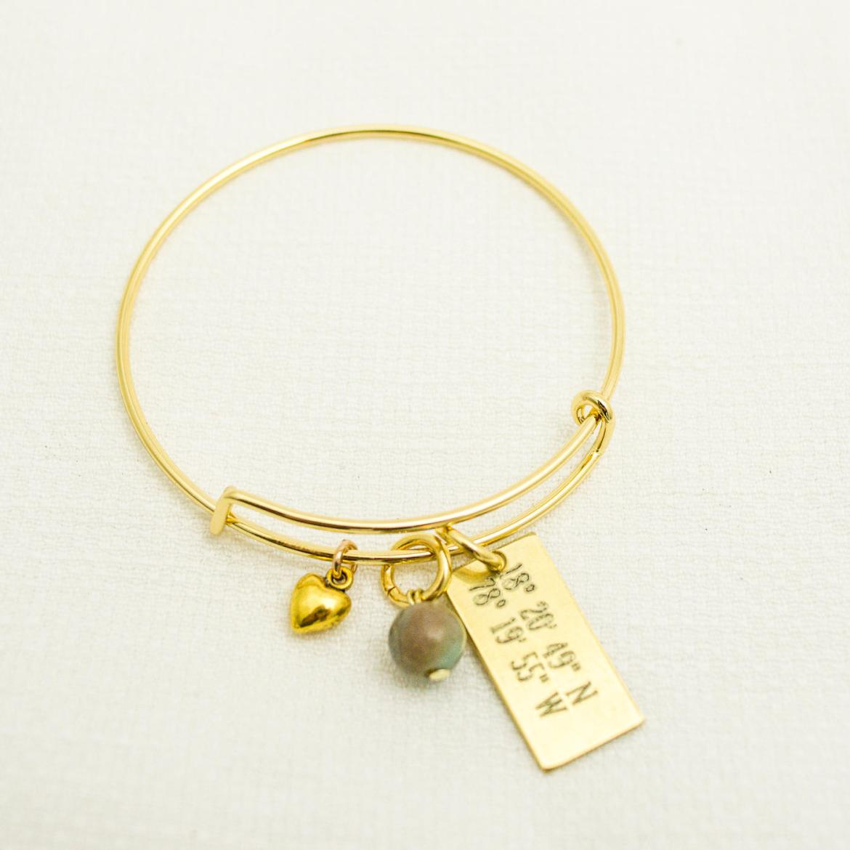 coordinates bracelet