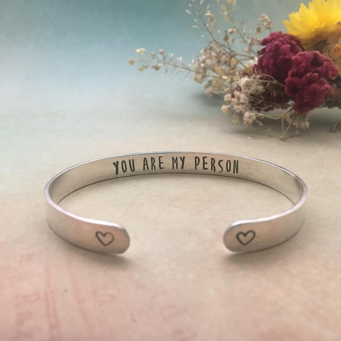 maid of honor bracelet - you are my person