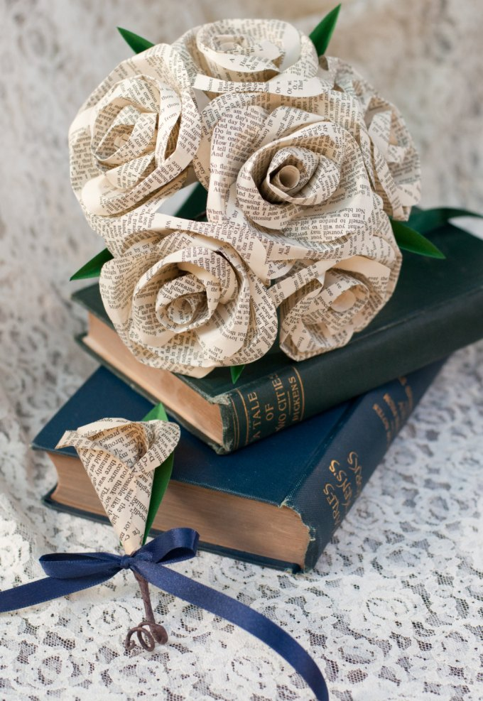 These paper roses make the most beautiful bouquets bridalpulse paper roses mightylinksfo