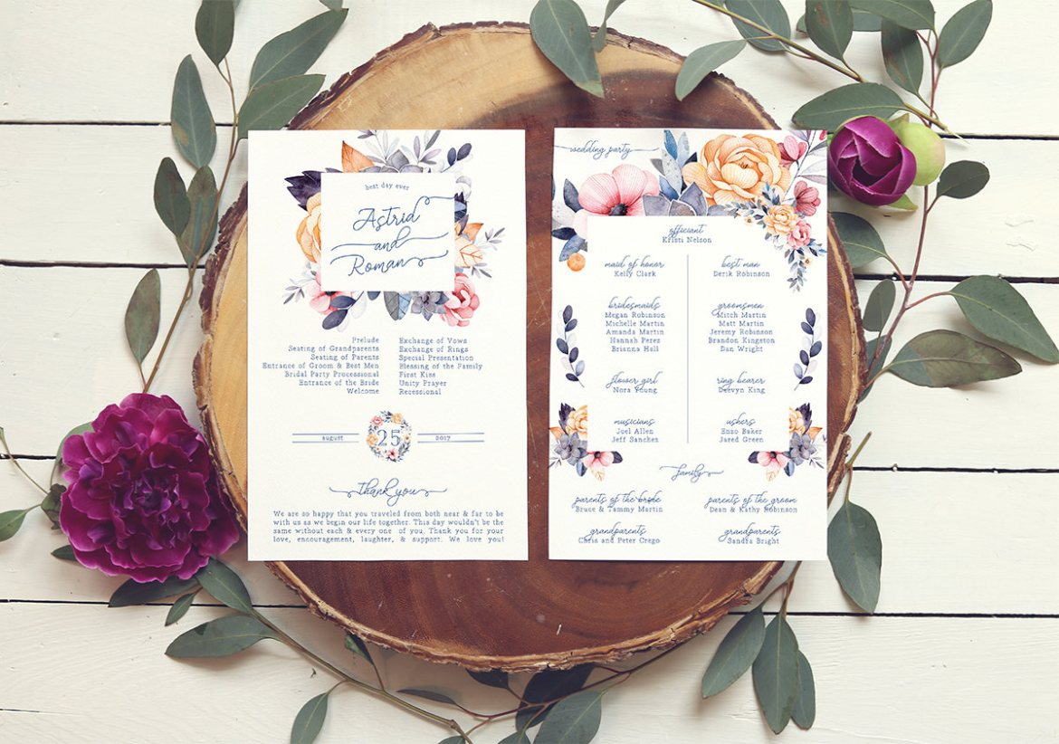 unique wedding programs