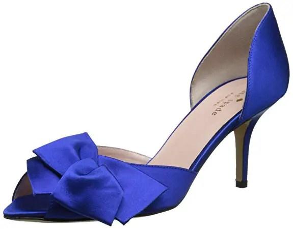 low wedding heels in cobalt blue
