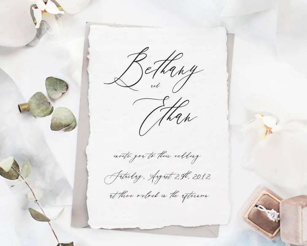 black and white wedding invitations by nostalgic imprints