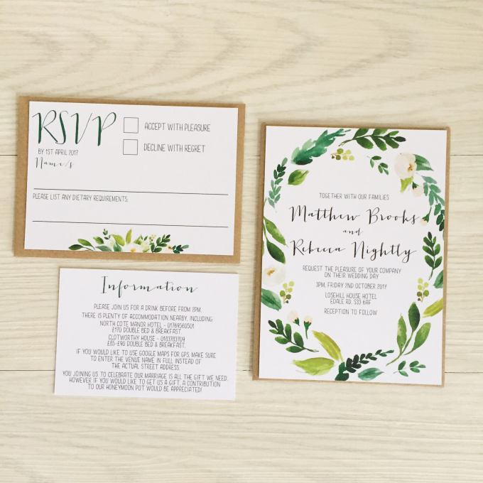 9 beautiful affordable greenery wedding invitations greenery wedding invitations stopboris Images
