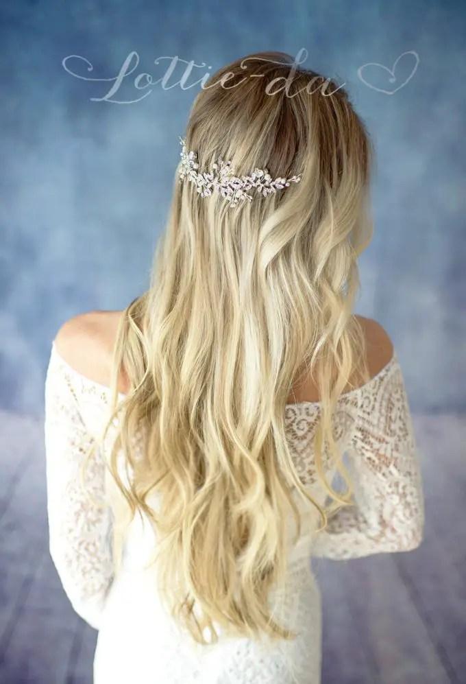 crystal hair vine via https://etsy.me/2Jh9G8R