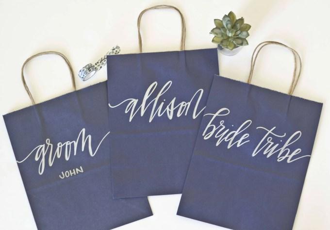 bridesmaid gift bags via https://etsy.me/2Is7UML