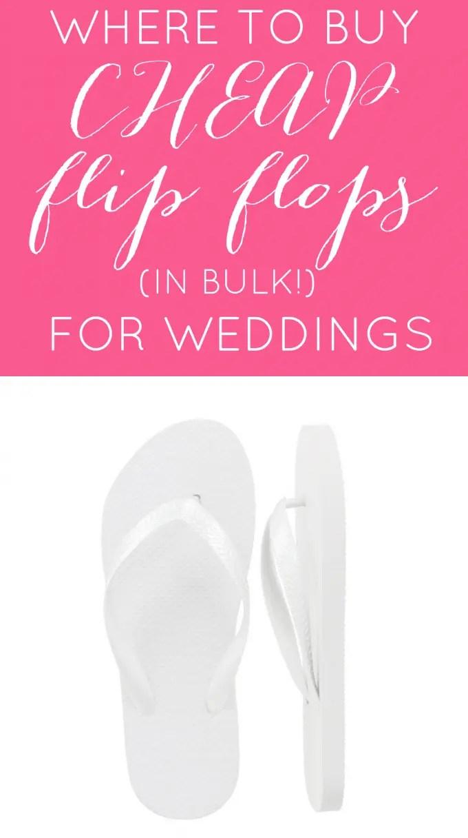 where to buy cheap flip flops in bulk for weddings