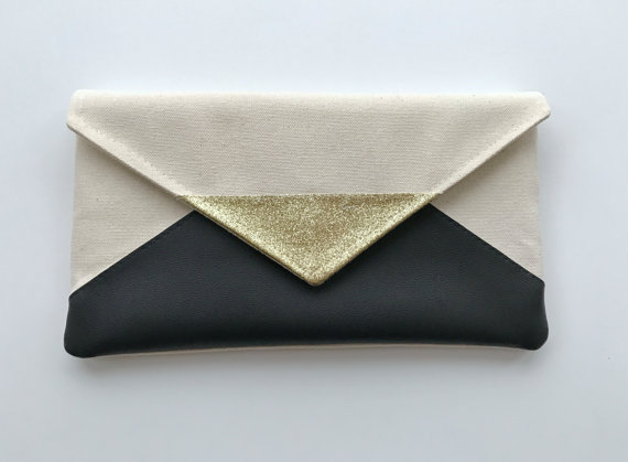 black envelope clutch