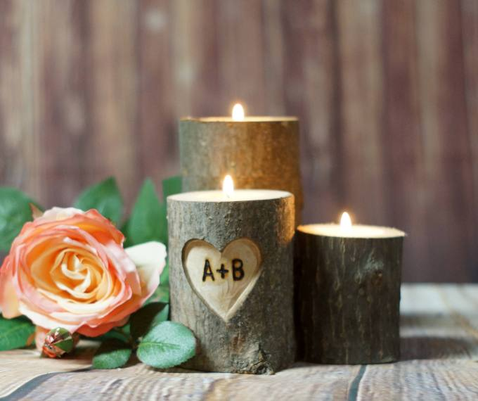 personalized carved candles handmade a day bridalpulse