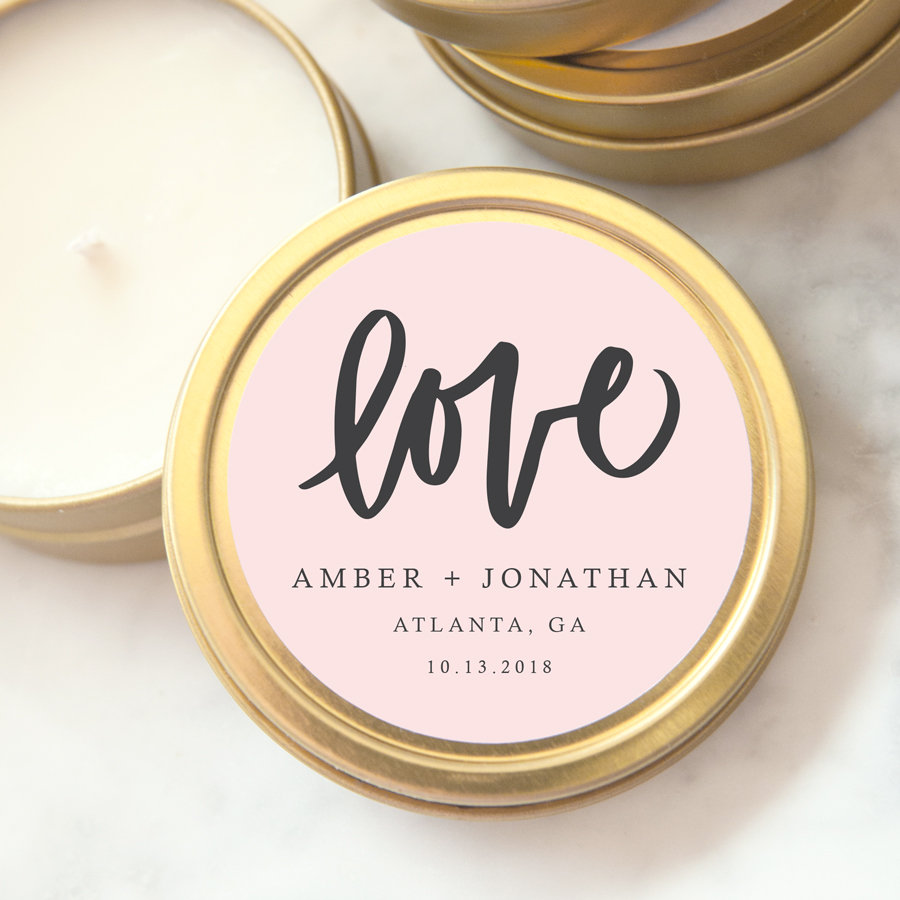 How To Give Custom Candles As Wedding Favors Emmaline Bride