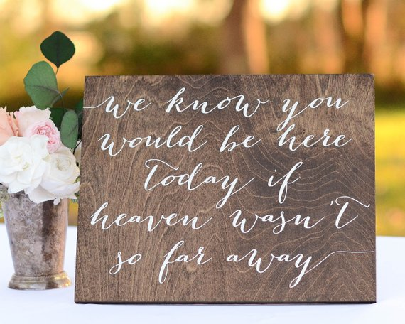 how to honor bride's father at wedding - in memory of