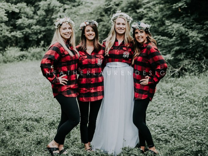 bridesmaid flannels