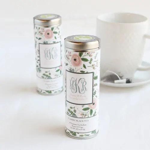 wedding favors ideas - tea tins via http://shrsl.com/153vw