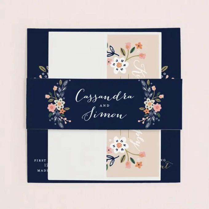 wildflower wedding invitations