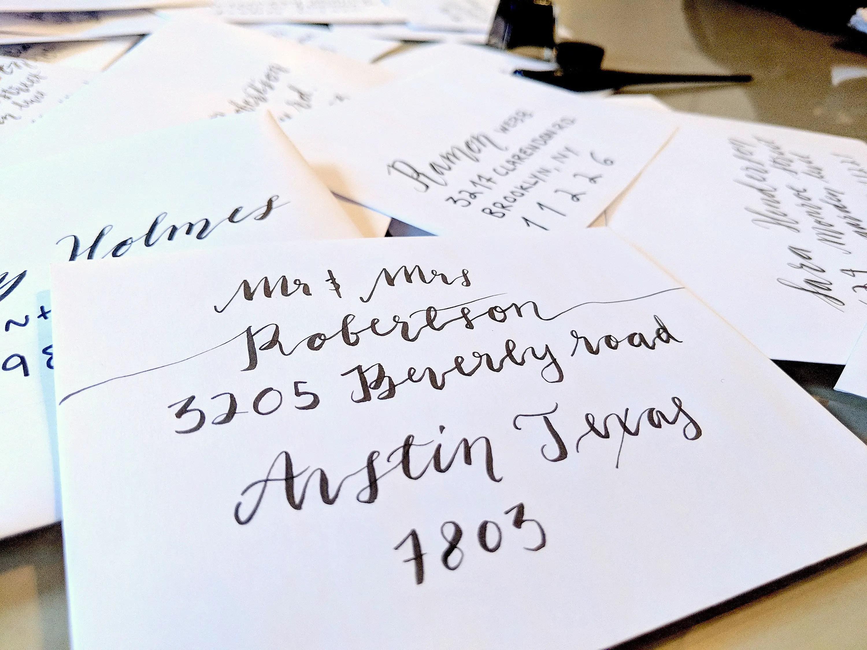 Calligraphy Envelopes for Wedding Invitations? Ask Emmaline