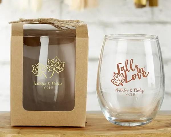 wedding wine glasses - wine favors