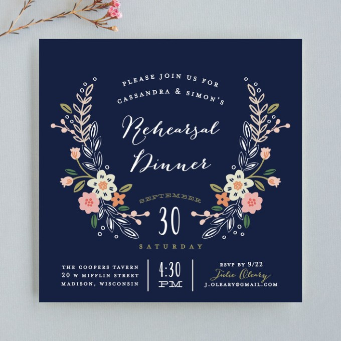 wildflower wedding invitations and coordinating pieces