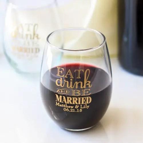 wine glasses - wine favors