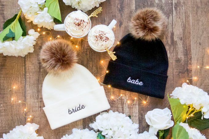 winter wedding party hats