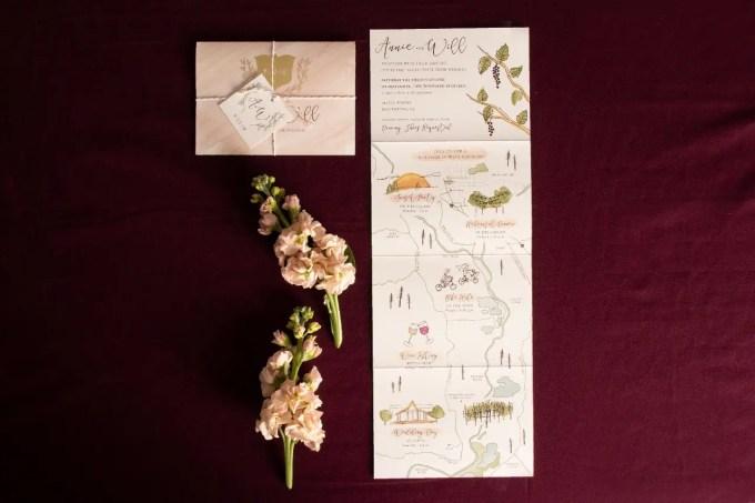wine country wedding invitations