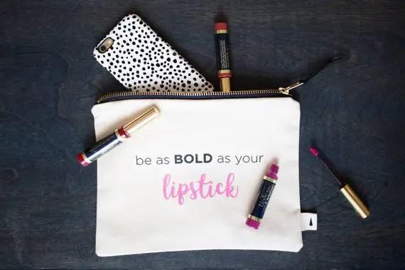 bold lipstick makeup bags