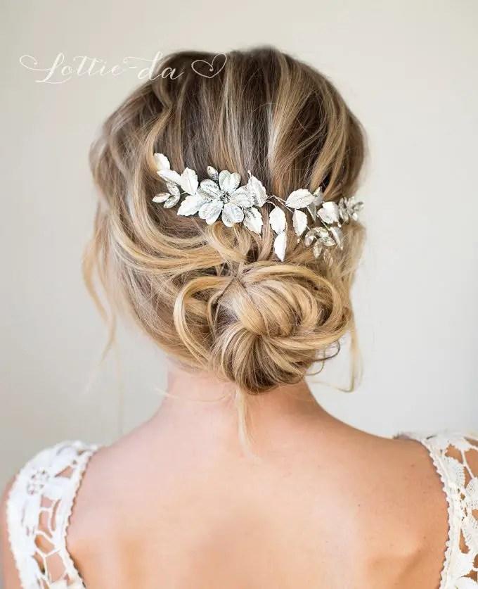 bridal comb for veil or alternative