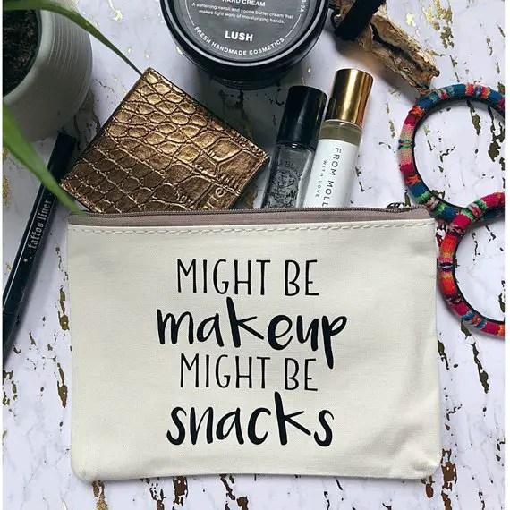 might be makeup might be snacks makeup bags