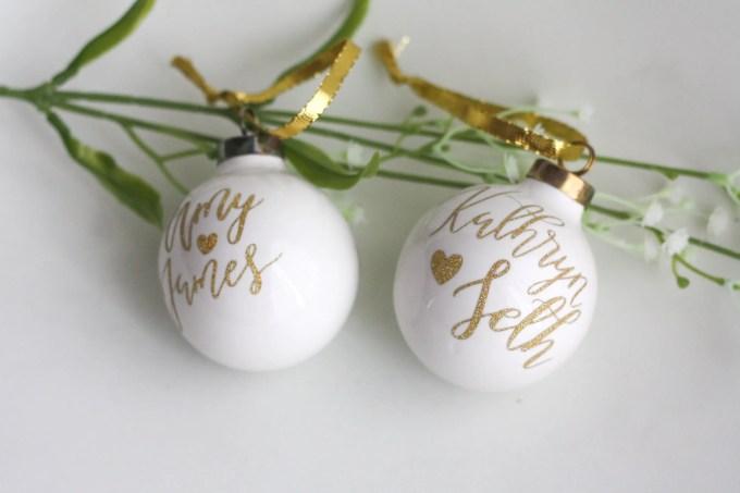 ornaments winter weddings