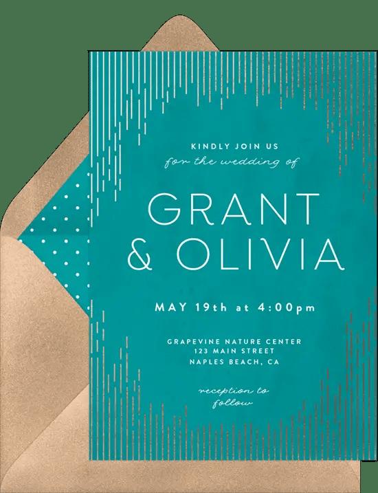 email wedding invitations