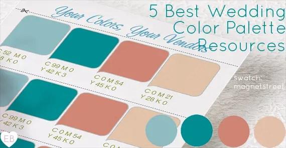 5 best wedding color palette resources