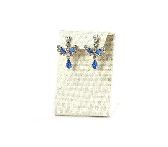 60s blue rhinestone earrings | Vintage Wedding Jewelry (Sweet & Spark)