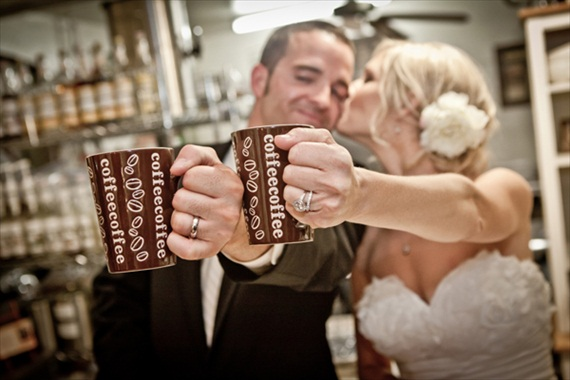How to Stock a Wedding Bar - Don't forget coffee! (photo by Photography by Verdi)