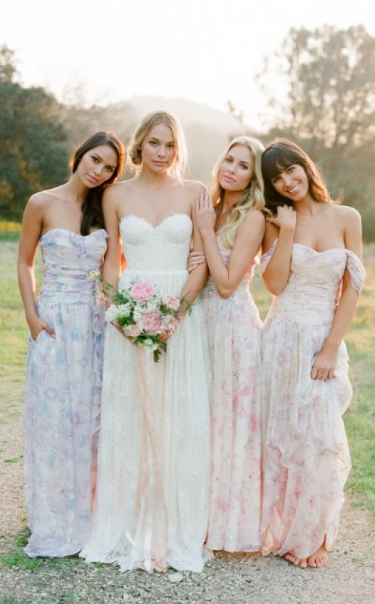 4 Bridesmaid Dresses In The Most Beautiful Floral Print Ever
