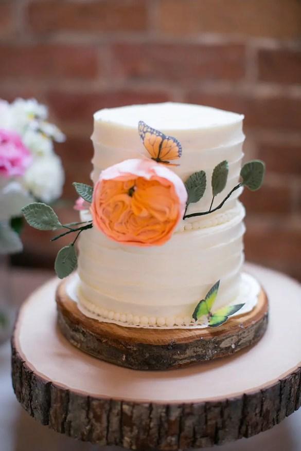 The Cake | Real Weddings Brooklyn Arts Center | Photo: Eric Boneske