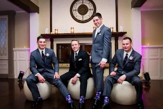 Wedding of Caitlin & Ben at The Villa - groom and groomsmen