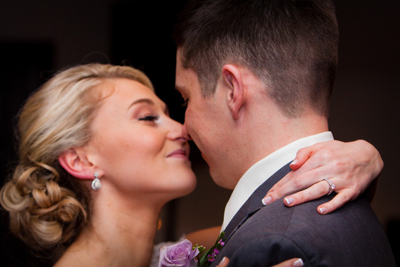 Wedding of Caitlin & Ben at The Villa - bride and groom dancing close