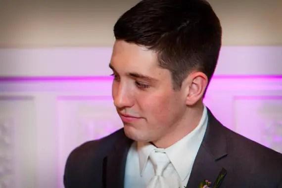 Wedding of Caitlin & Ben at The Villa - emotional groom