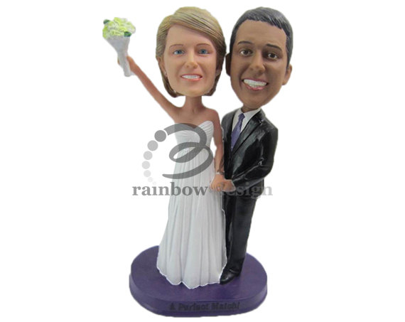 Custom Wedding Bobblehead - bride groom