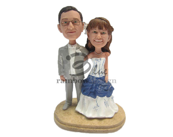 Custom Wedding Bobblehead - custom bride groom bobbleheads