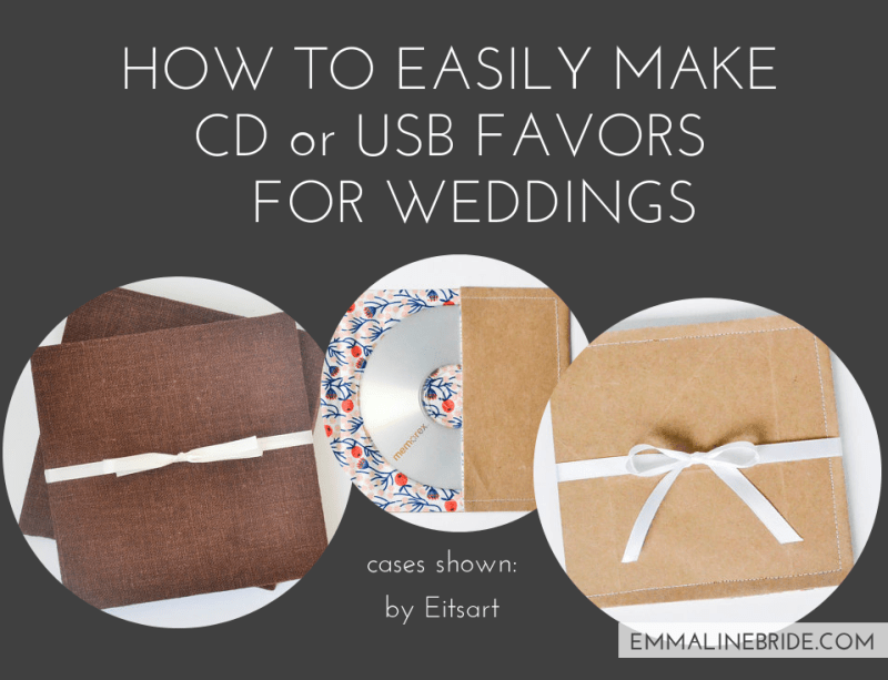 How To Easily Make Cd Or Usb Favors For Weddings