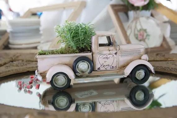 KimAnne Photography - iowa backyard wedding - cute-wedding-truck-decor
