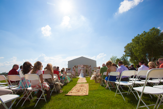 KimAnne Photography - iowa backyard wedding - walk-down-the-aisle