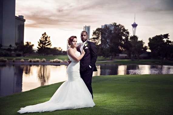 Las Vegas Wedding Inspiration At Country Club: Danielle + Sean