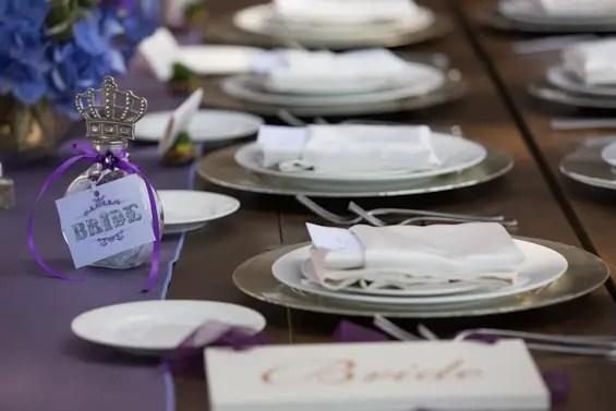 Johnstone Studios - lake tahoe wedding - purple wedding table accents