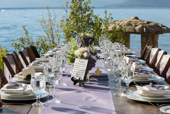 Johnstone Studios - lake tahoe wedding - reception table overlooking lake tahoe