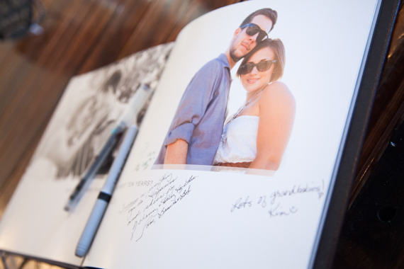 rustic chic arizona wedding at Shenandoah Mill, personalized photo guest book