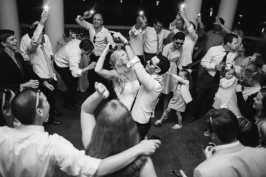 The Bride and Groom - Dancing - Bald Head Island - Photo by Eric Boneske (4)